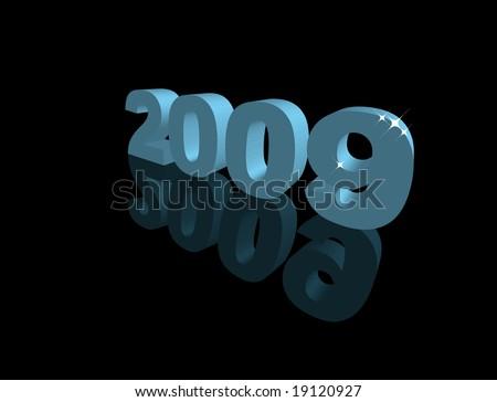 Happy New Year 2009 - stock vector