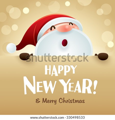 Happy New Year and Merry Christmas! - stock vector