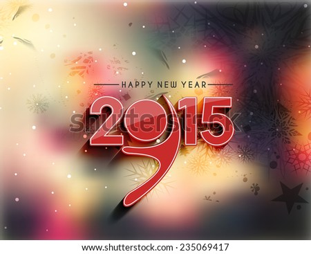 Happy new year 2015 Background - stock vector