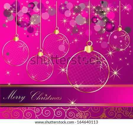 Happy New Year background gold and violet - stock vector
