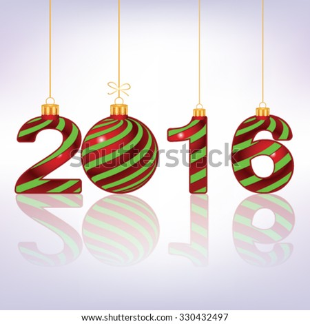 Happy New Year 2016  background, vector - stock vector