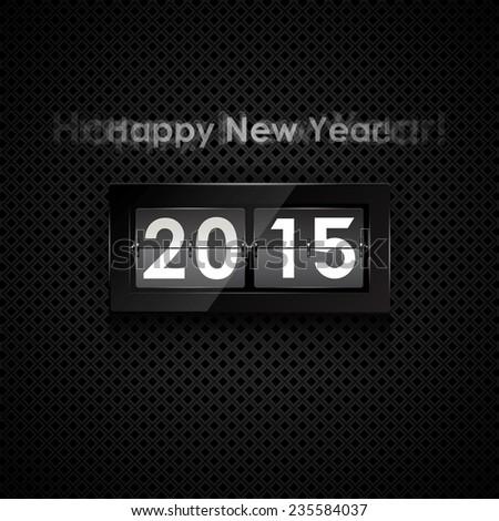 Happy new year 2014 card. Flip clock - stock vector