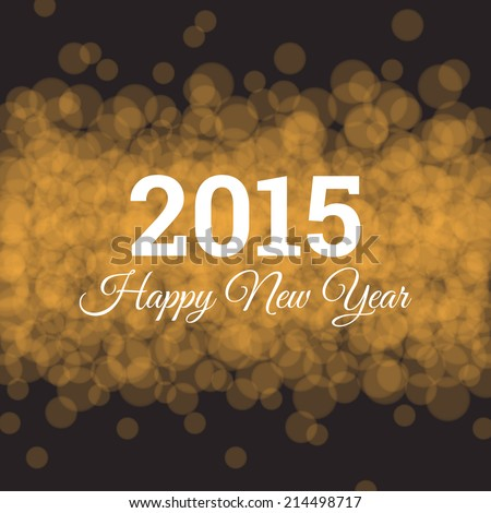 Happy new year card, gold glitter background, twinkled bright - stock vector