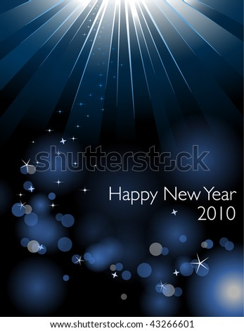 Happy New Year card - Vector EPS10 file - stock vector