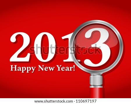 Happy new year card, vector eps10 illustration - stock vector