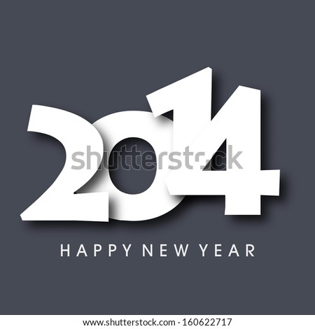 Happy New Year 2014 celebration background, can be use as flyer, banner or poster.  - stock vector