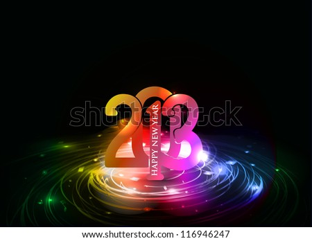 Happy new year 2013 celebration background. EPS 10. - stock vector
