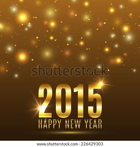 Happy New Year 2015 celebration background. Vector illustration - stock vector
