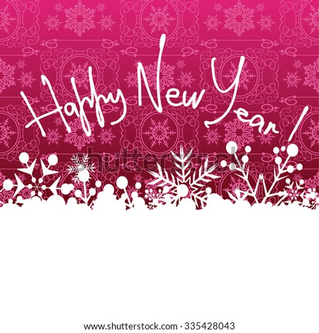 Happy New Year, Christmas card, New Year, Christmas decorations, New Year's Day, Day, New Year Eve, New Year greetings, Happy New Year wallpaper, Red, vector   - stock vector
