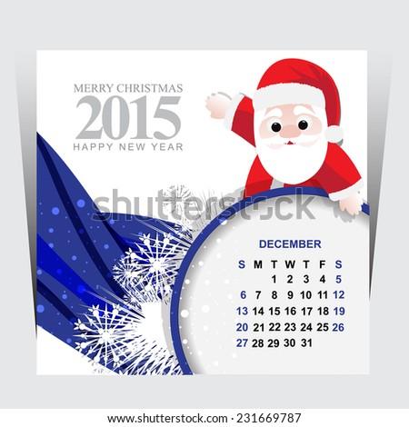 Happy new year december - stock vector