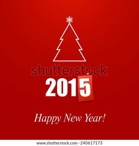 Happy New Year 2015 design card vector - stock vector