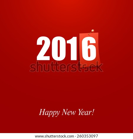 Happy New Year 2016 design card vector - stock vector