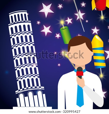 happy new year design, vector illustration eps10 graphic  - stock vector