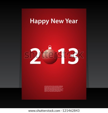 Happy New Year flyer or cover design - stock vector
