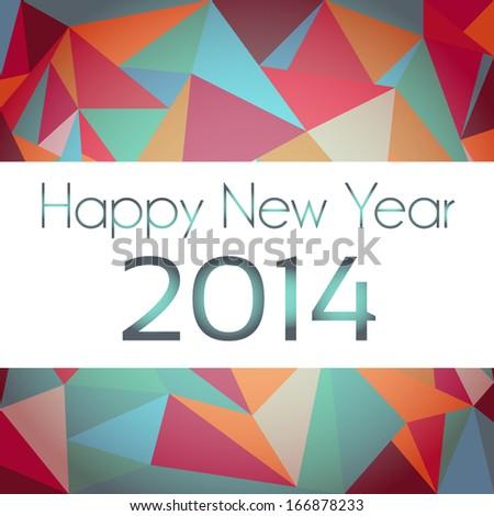 Happy New Year geometric design - stock vector