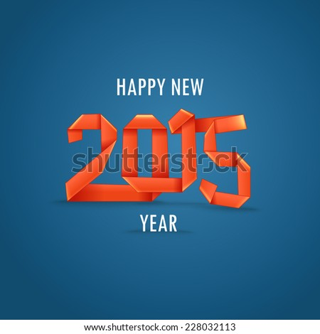 Happy New 2015 year. Greeting card - stock vector