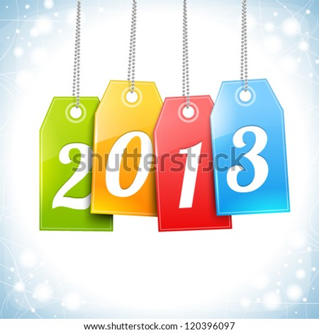 Happy New Year Greetings Card vector - stock vector