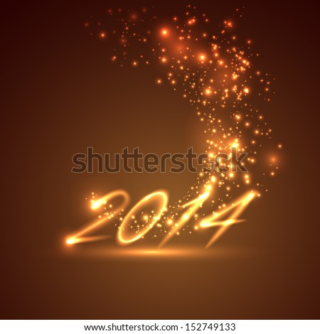 happy new year 2014. holiday background  - stock vector