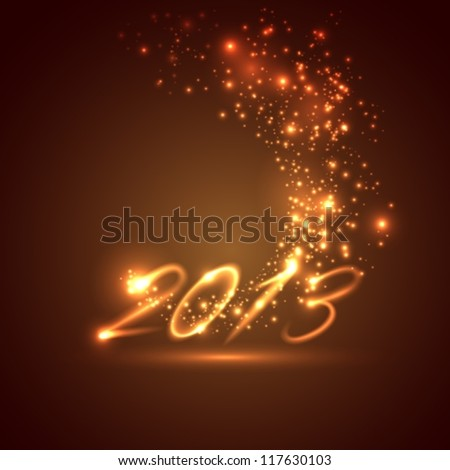 happy new year 2013. holiday background (2014 in portfolio) - stock vector