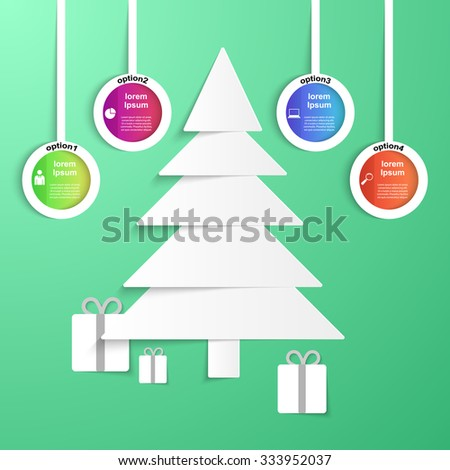 Happy new year illustration. Abstract 3D digital illustration Infographic. - stock vector