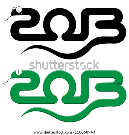 happy new year 2013  on white background - stock vector