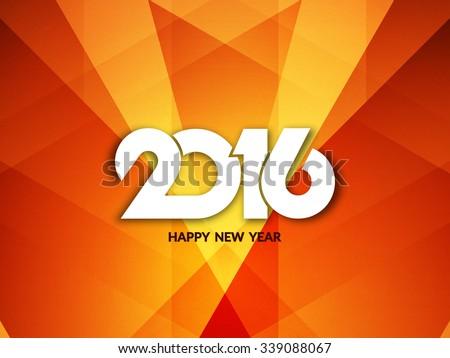Happy new year 2016 shiny background design.  - stock vector