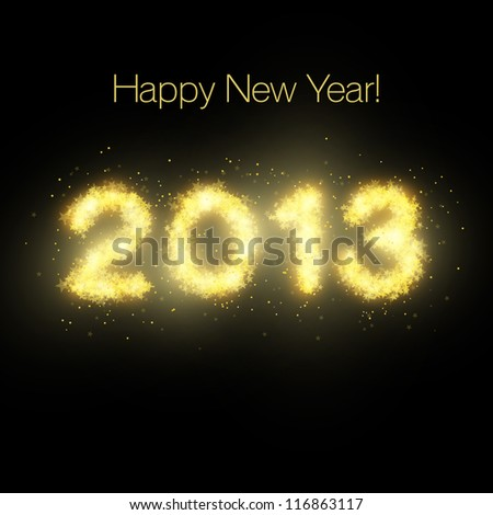 Happy New Year stars - stock vector