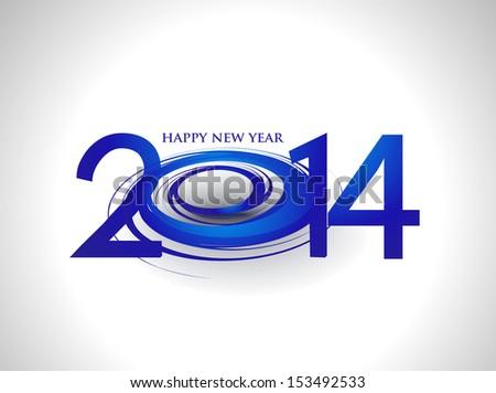 Happy new year 2014 text design. - stock vector