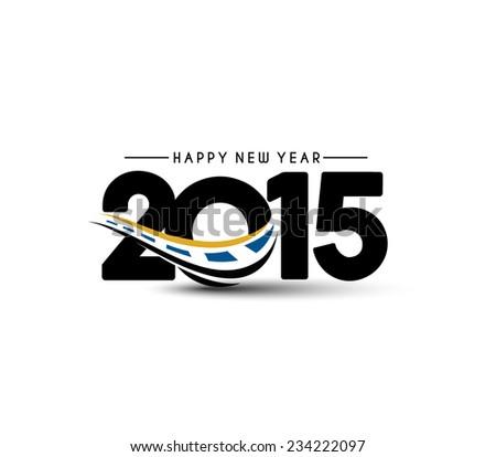 Happy new year 2015 Text Design  - stock vector