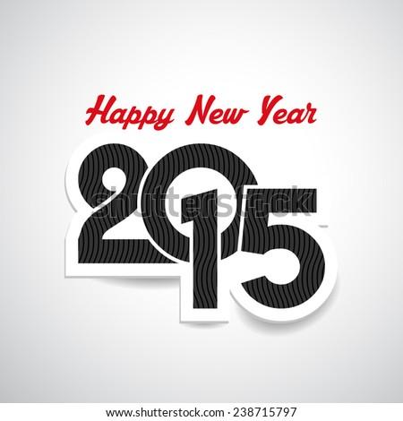 Happy New Year type design - stock vector