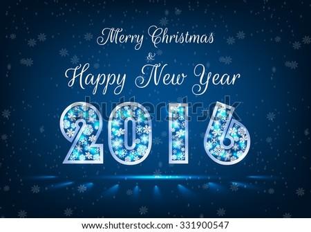 Happy New Year 2016. Vector - stock vector