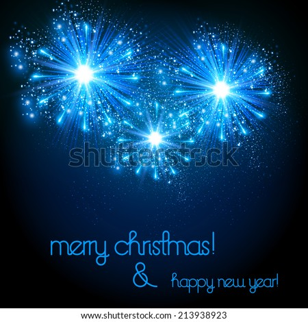 Happy New Year vector celebration background, easy all editable - stock vector