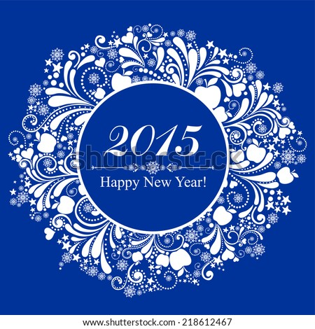 Happy new year 2015. Vector Illustration  - stock vector