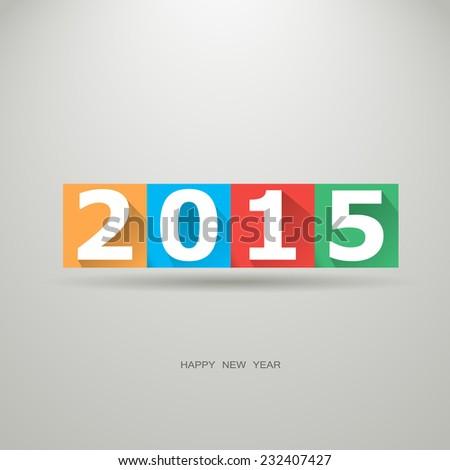 Happy new Year 2015, vector illustration. - stock vector