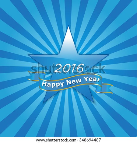 Happy New Year 2016 Vector Wallpaper Design - stock vector