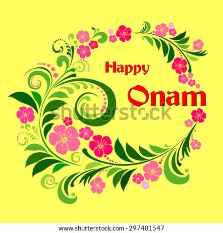 Happy Onam. Vector illustration  - stock vector