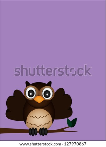 happy owl - stock vector