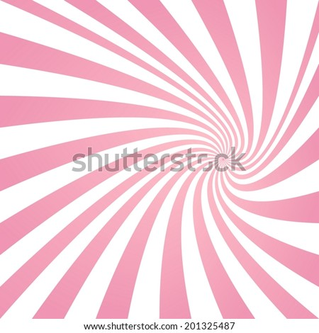 Happy pink summer rotating ray background - vector version - stock vector