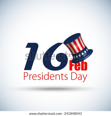Happy President's Day in the United States of America, Creative background, Vector Illustration. - stock vector