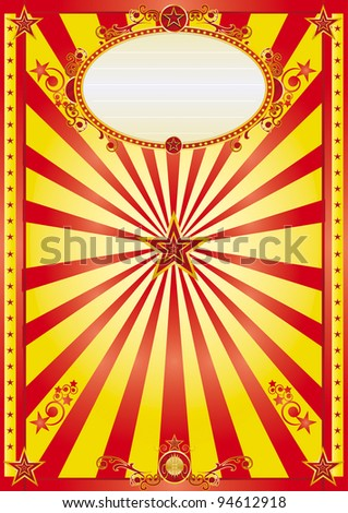 happy red and yellow background. a red and yellow background with a large sign for your message. - stock vector