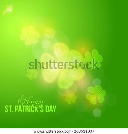 Happy Saint Patricks Day Background - stock vector
