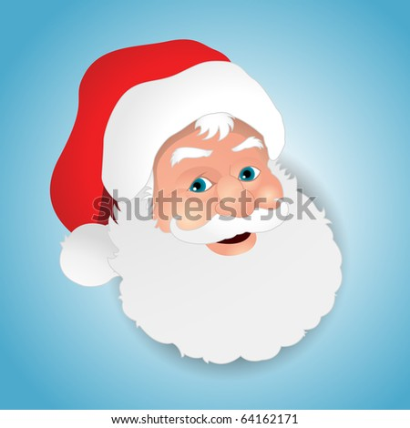Happy Santa Claus face - stock vector