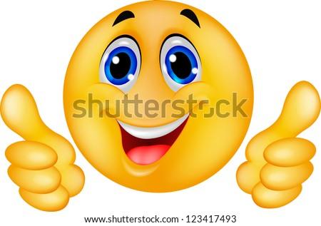 Happy Smiley Emoticon Face - stock vector