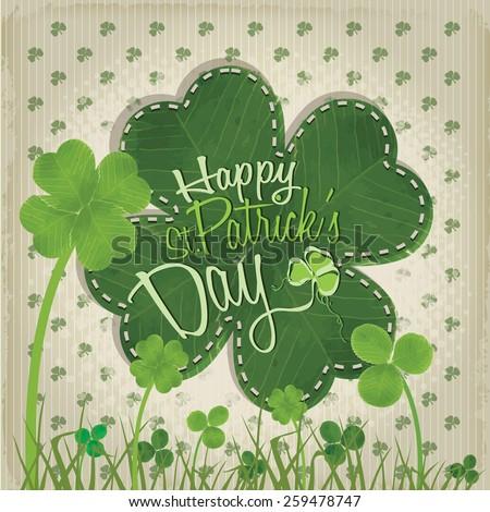 Happy St. Patrick's Day - stock vector
