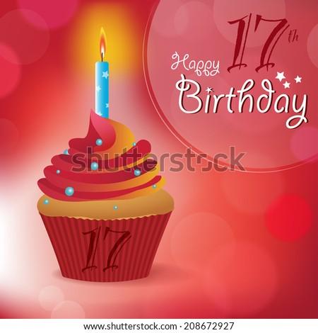 Happy 17th Birthday Greeting Invitation Message Bokeh Happy 17th Birthday Wishes