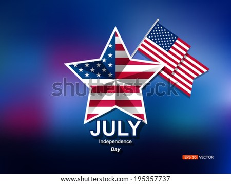 Happy 4th of july Independence Day, vector eps 10 - stock vector
