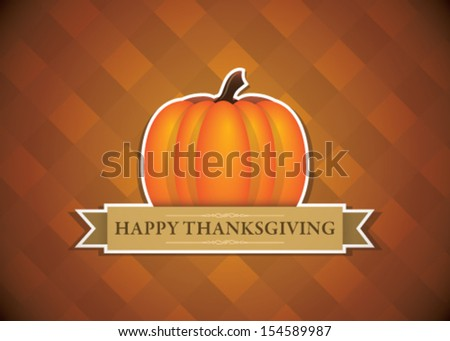 Happy Thanksgiving! - stock vector