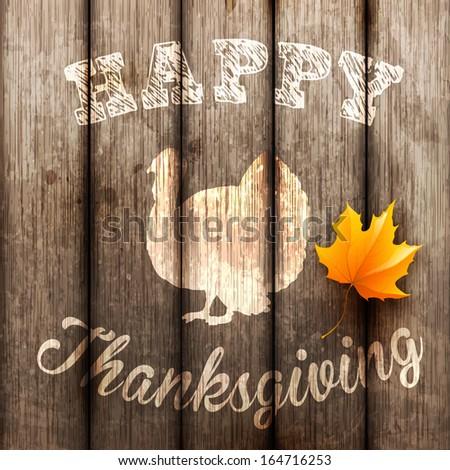Happy Thanksgiving Background, vector illustration. - stock vector