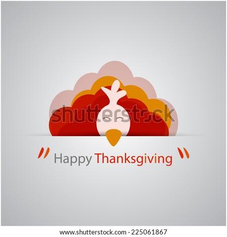 Happy Thanksgiving card design. - stock vector