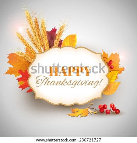 Happy Thanksgiving card. Vector eps 10. - stock vector